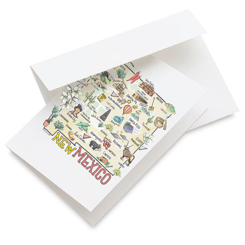 New Mexico Map Greeting Card