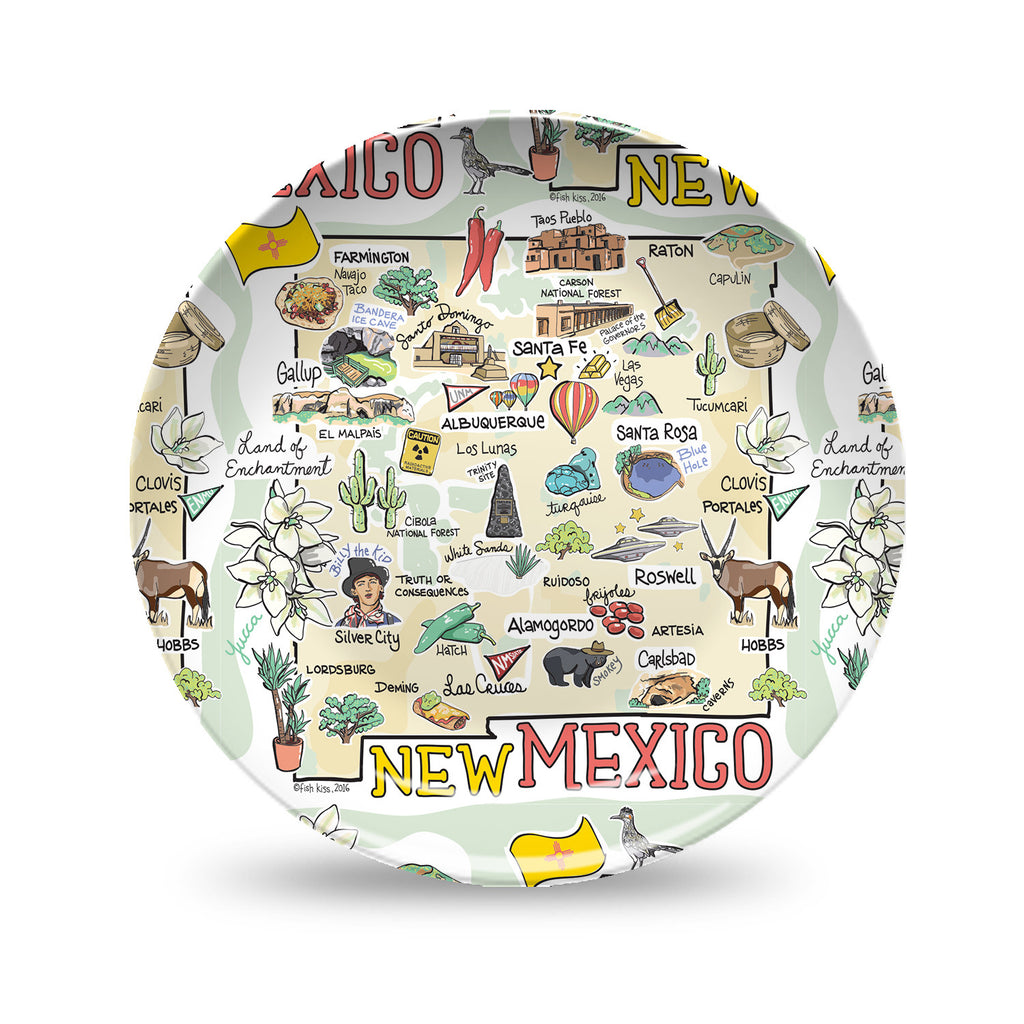 New Mexico Map Plate