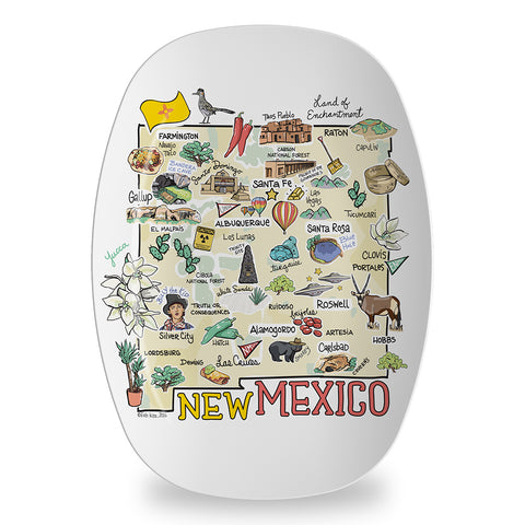 New Mexico Map Platter