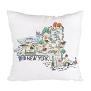 New York Map Pillow