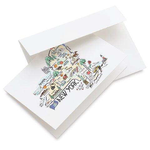 New York Map Greeting Card