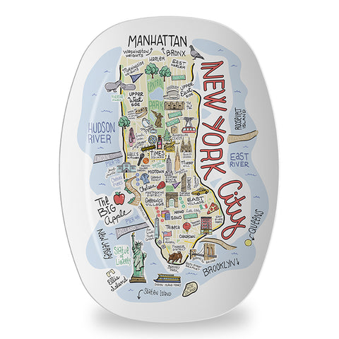 New York City Map Platter