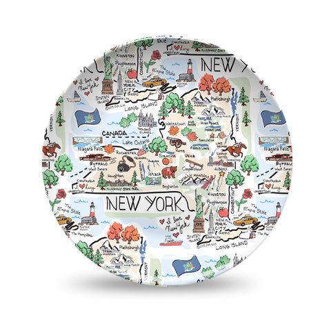 New York Map Plate