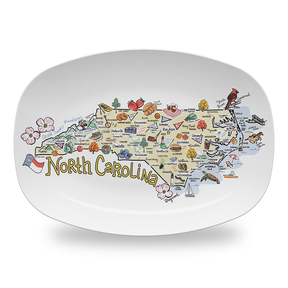 North Carolina Map Platter