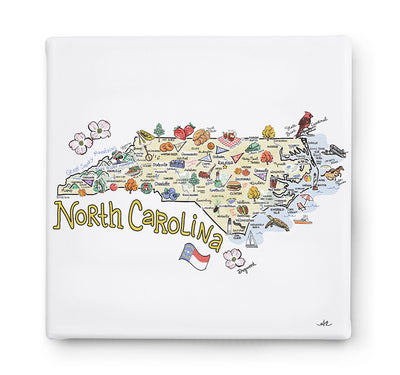 North Carolina Square Canvas Art