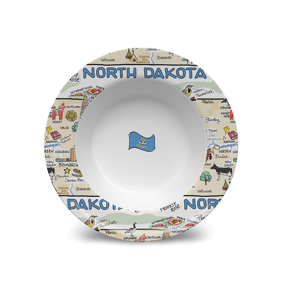 North Dakota Map Bowl