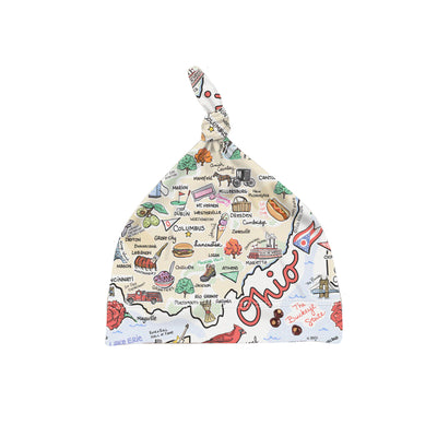 ORGANIC COTTON - Ohio Map Baby Hat