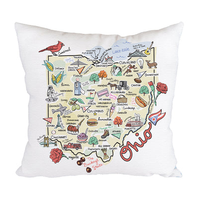 Ohio Map Pillow