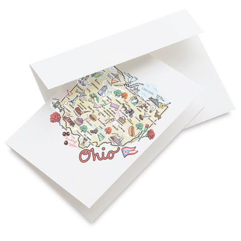 Ohio Map Greeting Card