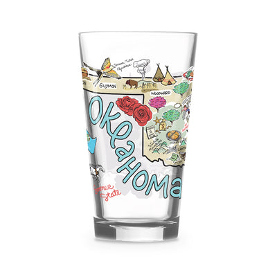 Oklahoma 16 oz. Glass
