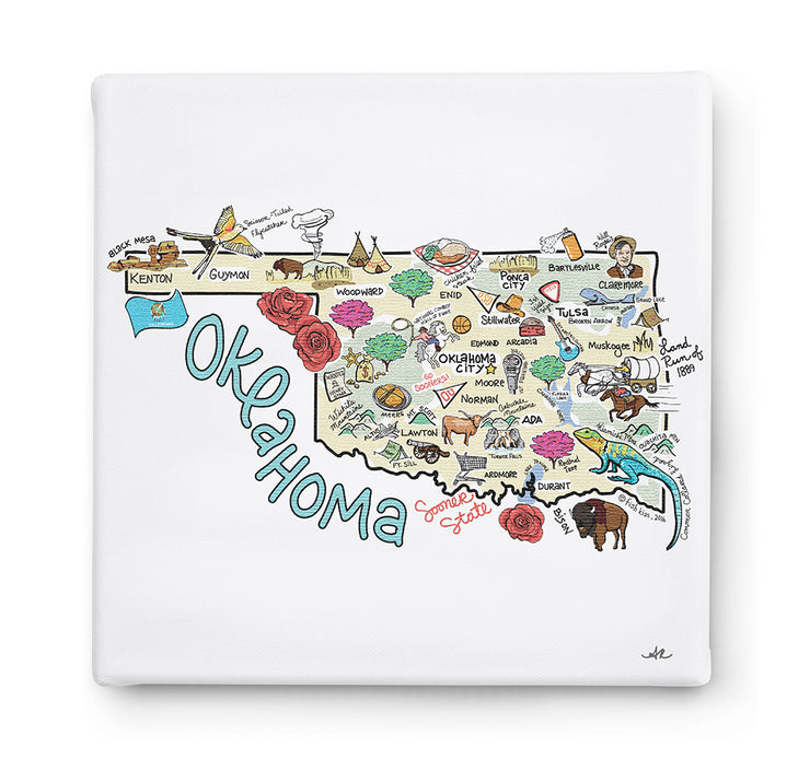 Oklahoma Square Canvas Art