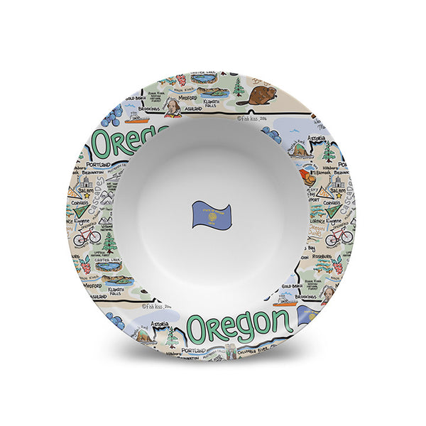Oregon Map Bowl