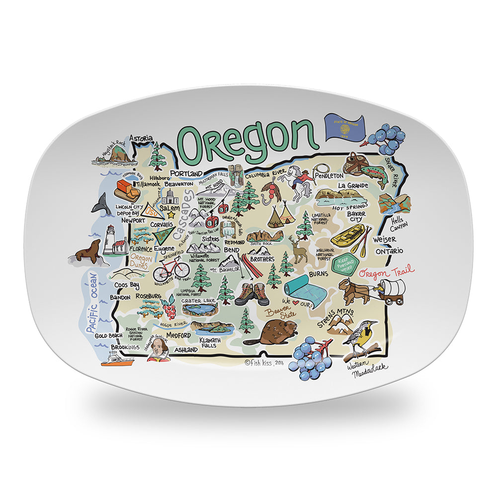Oregon Map Platter