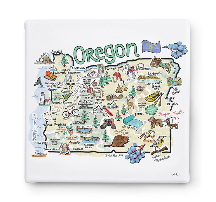 Oregon Square Canvas Art