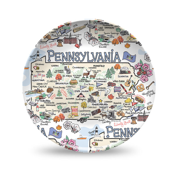 Pennsylvania Map Plate