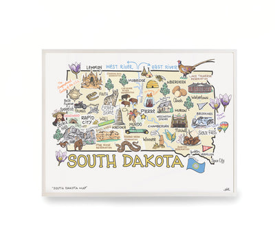 South Dakota Map Print