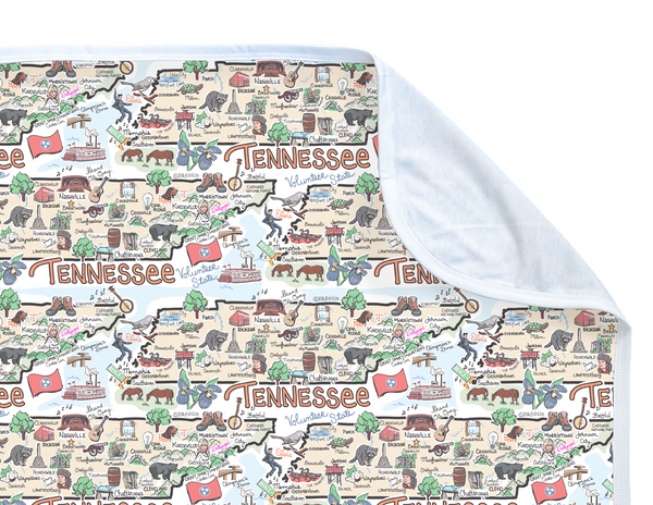 Tennessee Map Baby Blanket - PIMA