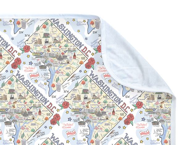 Washington D.C. Map Baby Blanket - PIMA