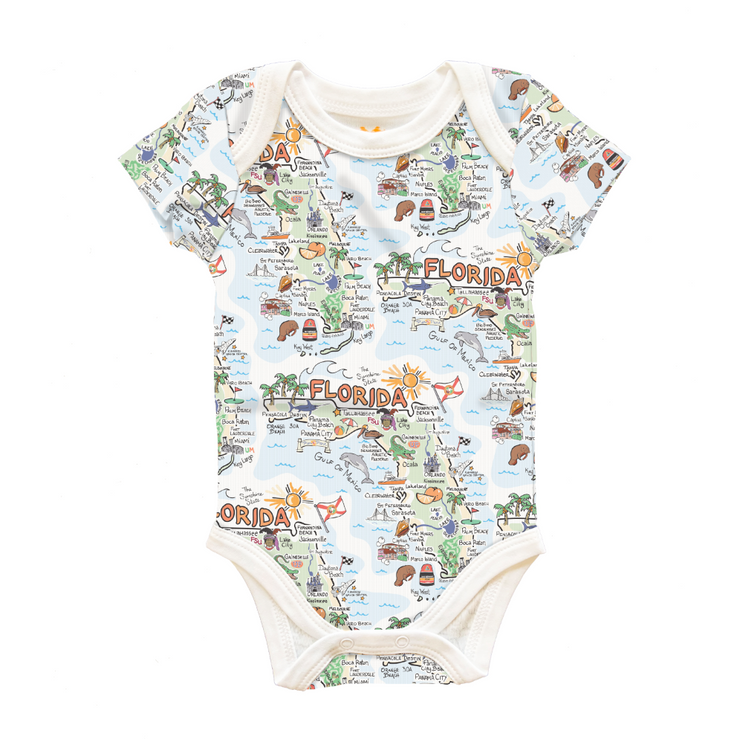 Florida Map Baby One-Piece - PIMA