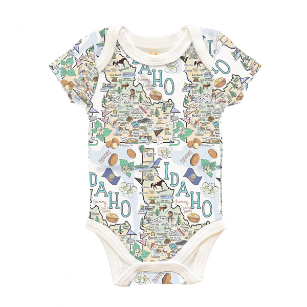 Idaho Map Baby One-Piece - PIMA
