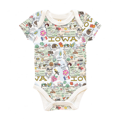 Iowa Map Baby One-Piece - PIMA