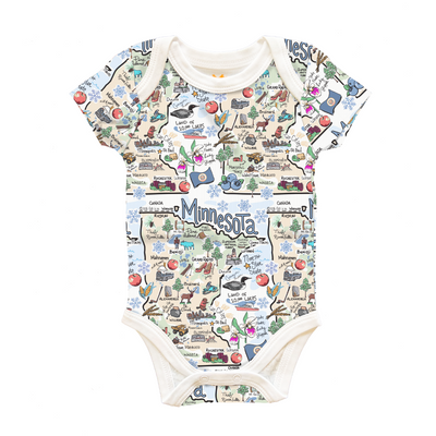 Minnesota Map Baby One-Piece - PIMA