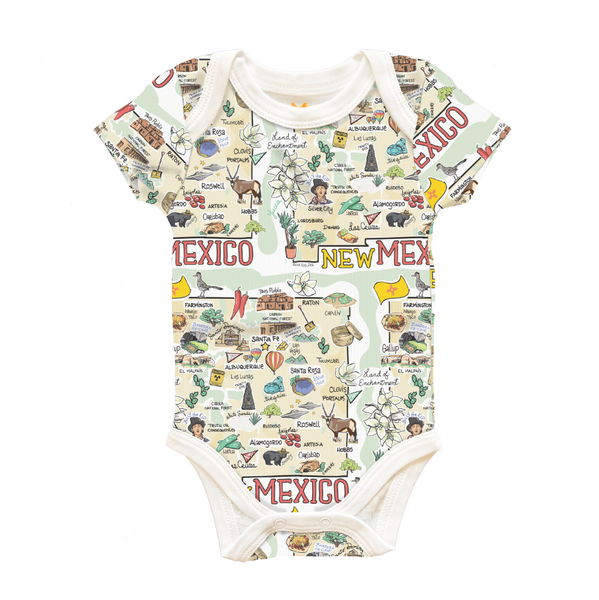 New Mexico Map Baby One-Piece - PIMA