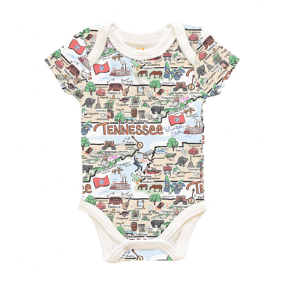 Tennessee Map Baby One-Piece - PIMA