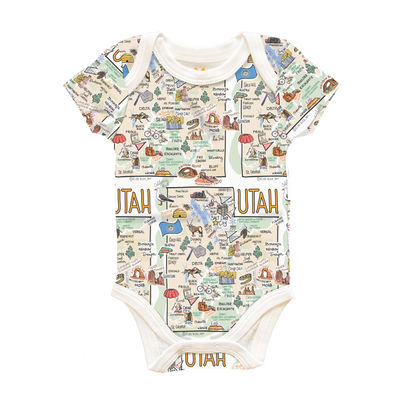 Utah Map Baby One-Piece - PIMA