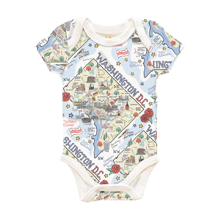 Washington D.C. Map Baby One-Piece - PIMA