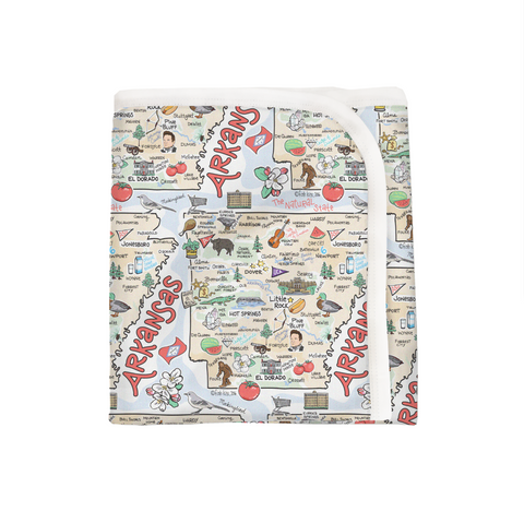 Arkansas Map Baby Blanket - PIMA