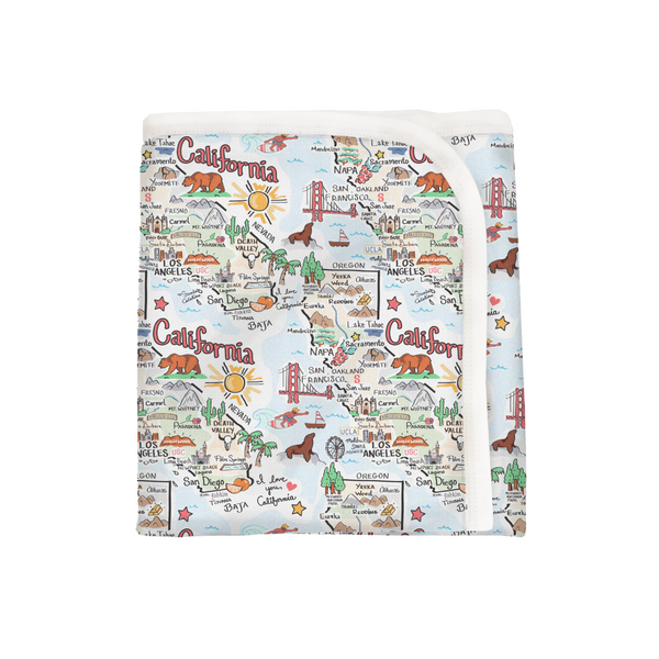 California Map Baby Blanket - PIMA