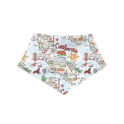 California Map Bandana Bib - PIMA