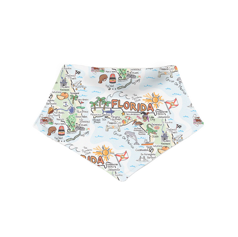 Florida Map Bandana Bib - PIMA