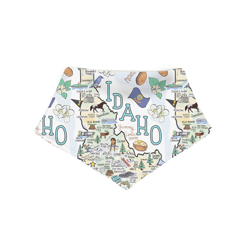 Idaho Map Bandana Bib - PIMA