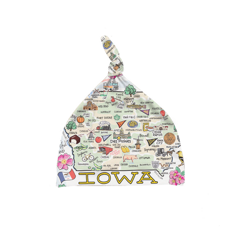 Iowa Map Baby Hat - PIMA