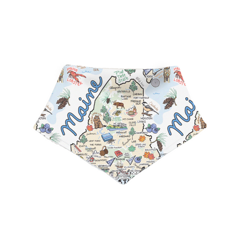 Maine Map Bandana Bib - PIMA