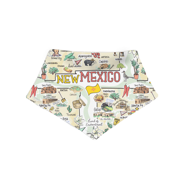 New Mexico Map Bandana Bib - PIMA