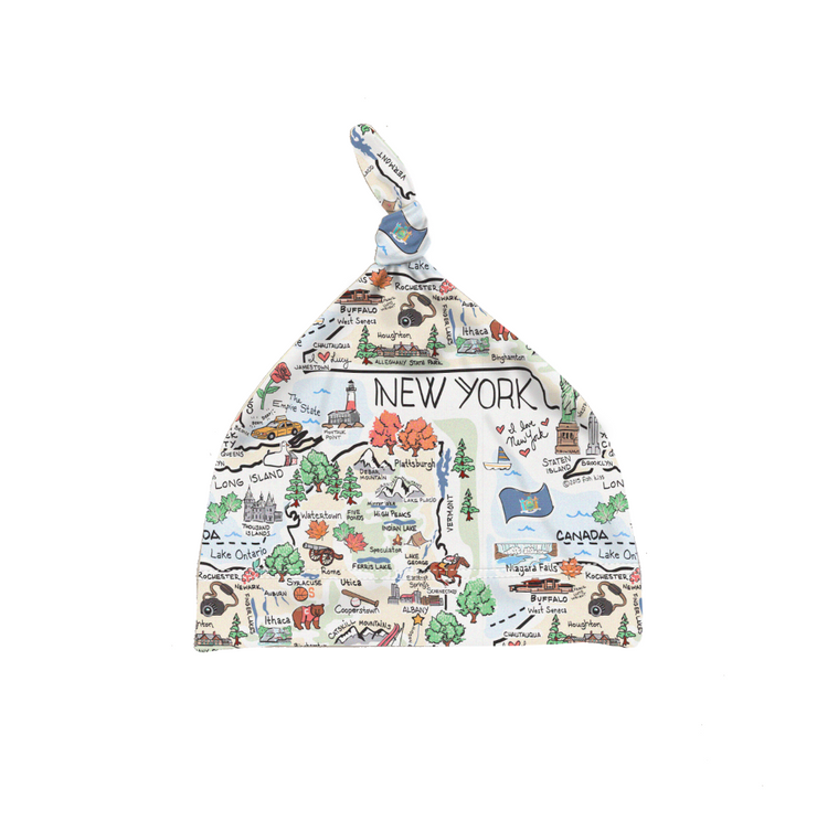 New York Map Baby Hat - PIMA