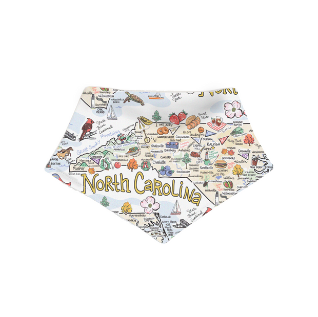 North Carolina Baby Bandana Bib