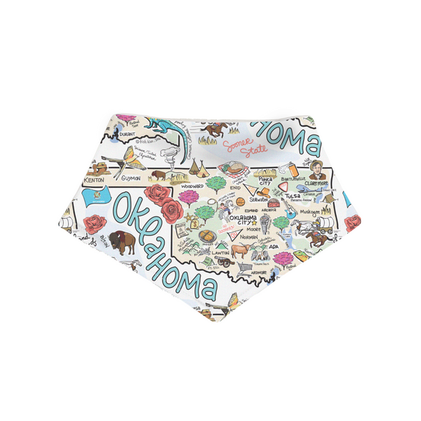 Oklahoma Small Bandana - Face Covering or Bib
