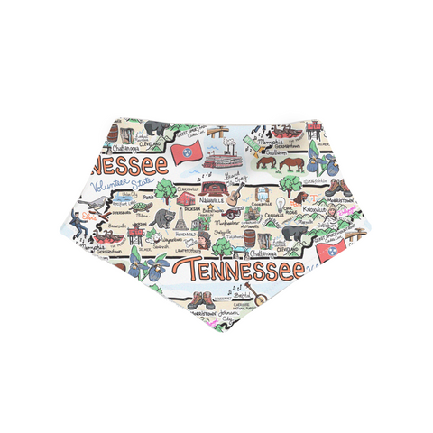 Tennessee Map Bandana Bib - PIMA