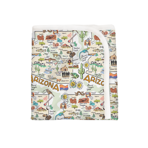 Arizona Map Baby Blanket - PIMA