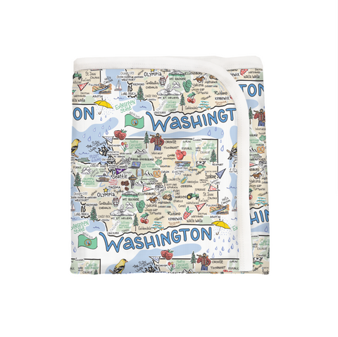 Washington Map Baby Blanket - PIMA