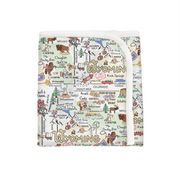Wyoming Map Baby Blanket - PIMA