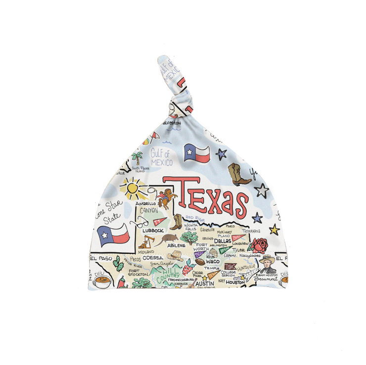Texas Map Baby Hat - PIMA