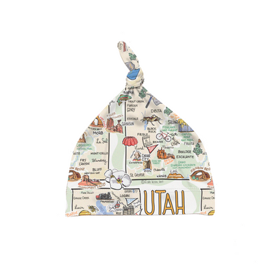 Utah Map Baby Hat - PIMA