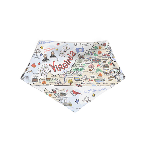 Virginia Map Bandana Bib - PIMA