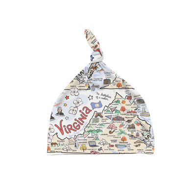 Virginia Map Baby Hat - PIMA