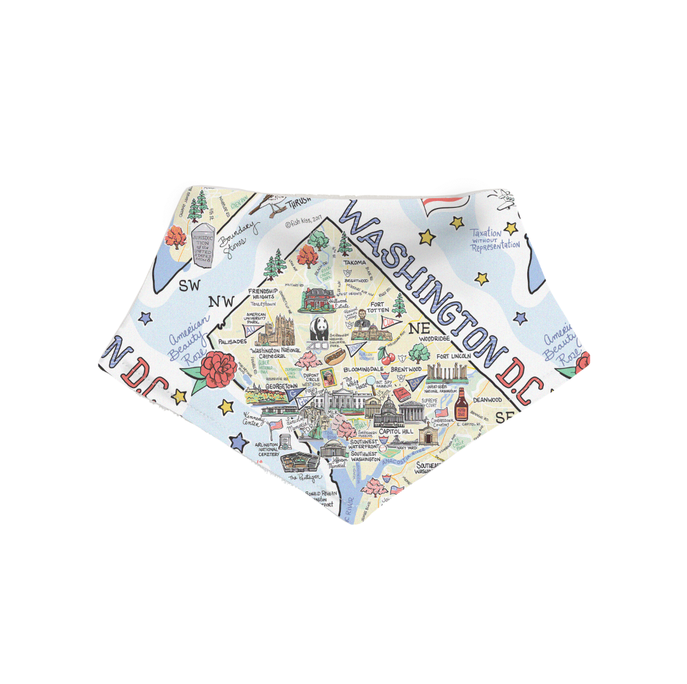 Washington D.C. Map Bandana Bib - PIMA